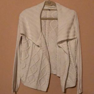 Cabi white cable knit cardigan - as Medium